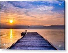 Flathead Lake Sunrise Acrylic Print