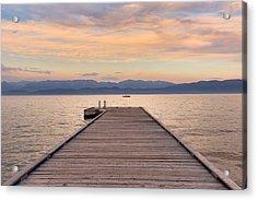 Flathead Lake Sunset Acrylic Print