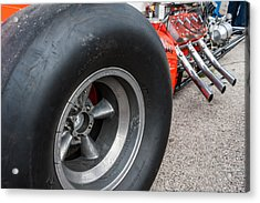 Flathead Powered Front Engine Dragster Acrylic Print by Todd Aaron