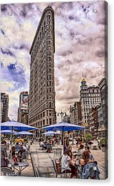 Flatiron Building Acrylic Print by Steve Zimic