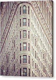 Flatiron Building Acrylic Print by Takeshi Okada