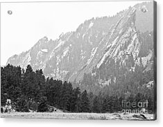 Flatiron In Black And White Boulder Colorado Acrylic Print by James BO  Insogna