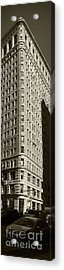 Flatiron In Sepia Acrylic Print by David Bearden