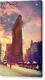 Flatiron Winter Acrylic Print by Jessica Jenney