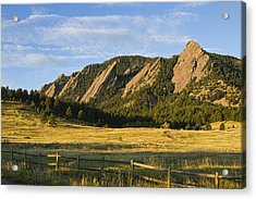 Flatirons From Chautauqua Park Acrylic Print by James BO  Insogna