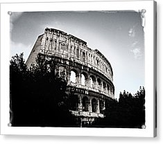 Acrylic Print featuring the photograph Flavian Amphitheater by Joe Winkler