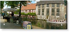 Flea Market At A Canal, Dijver Canal Acrylic Print