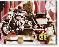 Flea Market Series - Motorcycle Acrylic Print by Marco Oliveira