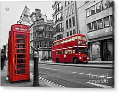 Fleet Street London Acrylic Print by Delphimages Photo Creations