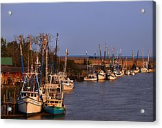 Acrylic Print featuring the photograph Fleet's In by Laura Ragland