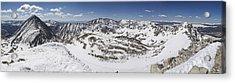 Fletcher Mountain Summit Panorama Acrylic Print