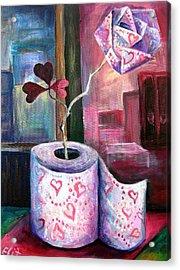 Fleur D Orange With Love And Squalor Acrylic Print