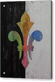 Fleur De Lis Acrylic Print