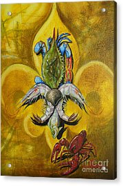 Fleur De Lis Acrylic Print by Theon Guillory