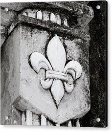 Fleur De Lys Acrylic Print