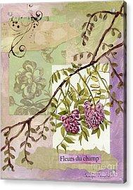 Fleurs Du Champ Acrylic Print by Tamyra Crossley