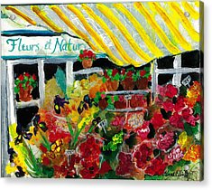 Acrylic Print featuring the painting Fleurs Et Nature by Elaine Elliott