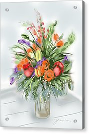 Fleurs Pour Moi Acrylic Print
