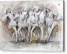 Flight Dancers Acrylic Print by Gregory DeGroat
