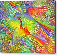 Flight Of Colour And Bliss Acrylic Print by Jennifer Baird