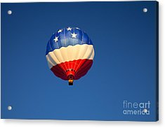 Flight Of The Patriot Acrylic Print by Mike  Dawson