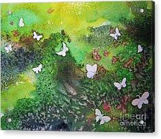 Flight Of White Acrylic Print