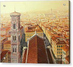 Flight Over Florence Acrylic Print by Kiril Stanchev