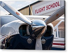 Flight School Acrylic Print by Andy Crawford