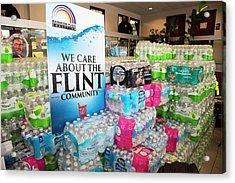 Flint Bottled Water Donation Acrylic Print