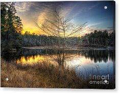 Flint Creek Sundown Acrylic Print by Maddalena McDonald