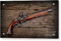 Flintlock Blunderbuss Pistol Acrylic Print by Paul Ward
