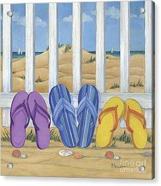 Flip Flop Beach II Acrylic Print by Paul Brent
