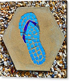 Square Flip Flop Stepping Stone Two Acrylic Print