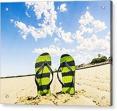 Flip Flop Stop Acrylic Print by Jorgo Photography - Wall Art Gallery