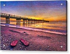 Flip-flops Acrylic Print by Debra and Dave Vanderlaan