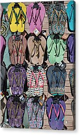 Flip Flops Acrylic Print by Peter Tellone