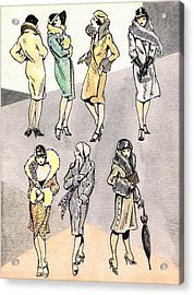 Flirty Flappers Acrylic Print by Mel Thompson
