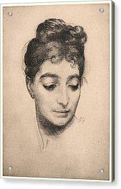 Félix Bracquemond French, 1833 - 1914. Portrait Acrylic Print