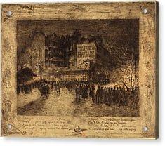 Félix-hilaire Buhot French, 1847 - 1898, La Place Des Acrylic Print