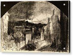 Félix-hilaire Buhot, Montmartre Le 14 Juillet Bastille Day Acrylic Print