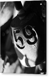Acrylic Print featuring the photograph Float Number 59 - Black And White by Rebecca Sherman