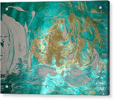 Acrylic Print featuring the painting Floating 1 by Fereshteh Stoecklein