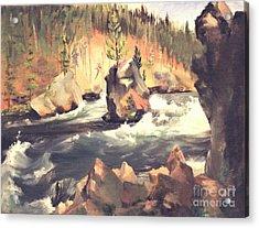 Floating Boulder Acrylic Print