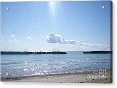 Acrylic Print featuring the photograph Floating Clouds by Ramona Matei