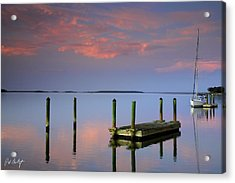 Floating Docks Acrylic Print by Phill Doherty