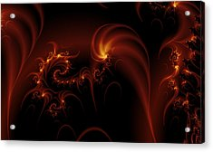 Floating Fire Fractal Acrylic Print