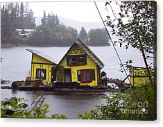 Floating Fish Barge Acrylic Print by Frances  Dillon