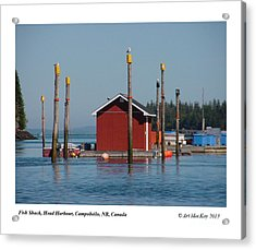 Floating Fish Shack Bay Of Fundy Nb Acrylic Print