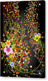 Floating Fragrances - Black Version Acrylic Print by Peter Awax