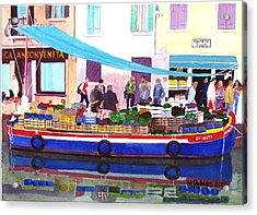 Floating Grocery Store Acrylic Print by Mike Robles